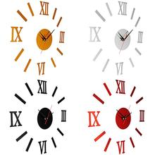 Wall Clocks DIY 3D Acrylic Mirror Stickers Hanging Clock for Living Room Decoration Home Decor