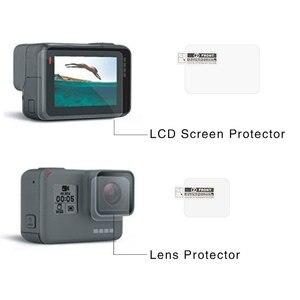 Image 5 - Verre trempé lentille LCD écran de protection pour Go Pro Gopro Hero 5 6 7 Hero5 Hero6 Hero7 caméra lentille capuchon couverture protecteur Film ensemble