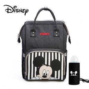 Image 1 - Disney Mickey Minnie Sacchetto di Viaggi Diaper Bag Bolsa Maternidade Passeggino Impermeabile USB Del Bambino Scaldino della Bottiglia del sacchetto della Mummia Del Sacchetto Del Pannolino Zaino