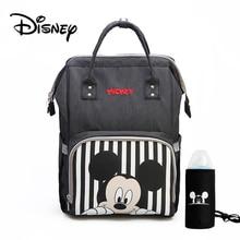 Sac à langer de voyage Disney Mickey Minnie Bolsa Maternidade sac de poussette étanche USB chauffe biberon momie sac à dos sac à langer