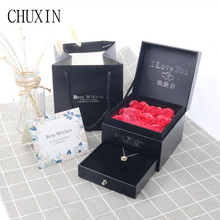 Surprise Gift Box Soap Flower+Box Packing Set Artificial Flower Creative Gift Boxes Valentines Day Birthday Gift Decor
