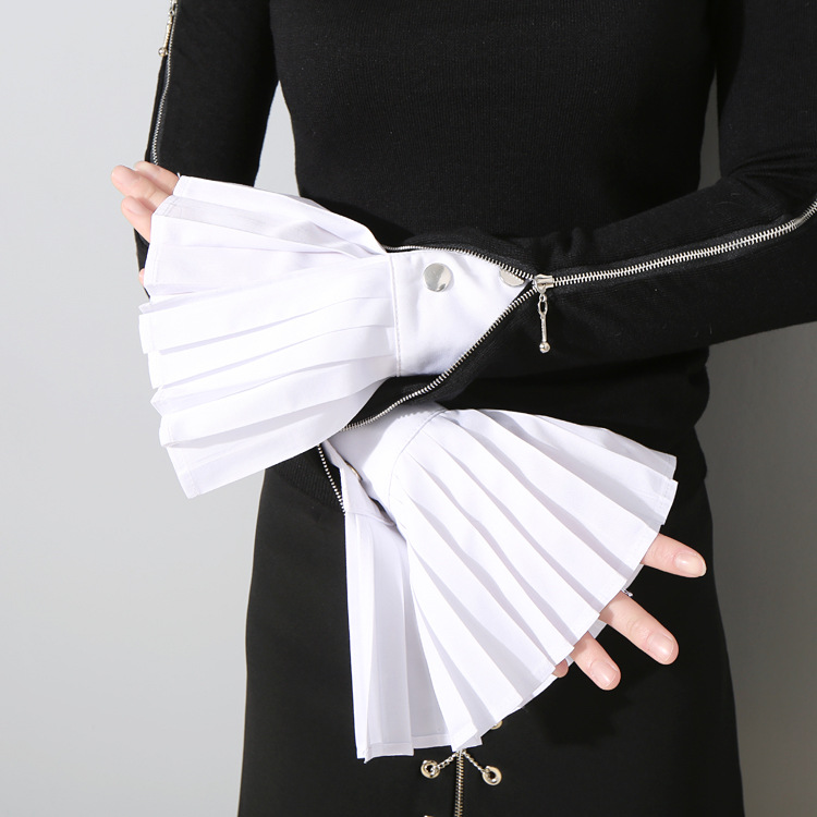 Flared Cuffs All-match Basic Clothes Accessories Fake Sleeve Cuffs Pleated Shirt Sleeves Decorated Cuffs Lace Fake Sleeve Women