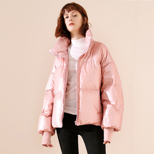 Image 5 - 새로운 광택 방수 여성 자 켓 파 카 2019 겨울 자 켓 여성 패션 Windproof 따뜻한 패딩 아래로 파 카 여성 코트 여성