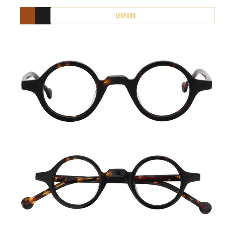 Image 3 - Acetate Round Fashion Glasses Men Harry Retro Glasses Frames Fake Glasses with Clear Lens Women Optical Spectacle FrameWomens Eyewear Frames   -