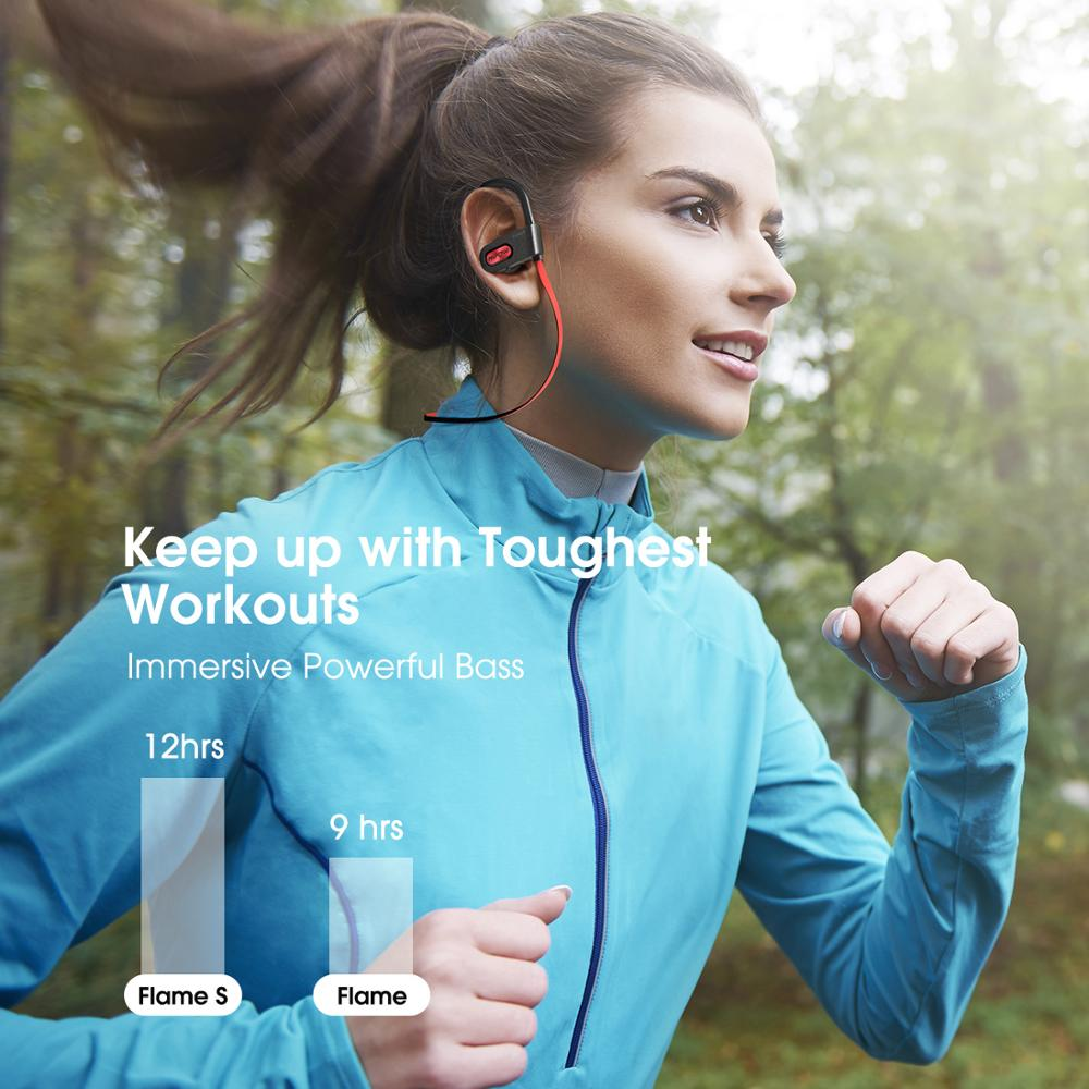 lowest price Mpow Newest Flame S Bluetooth 5 0 Wireless Sports Earphones CVC 8 0 Noise Cancelling Aptx-HD Sound iPX7 Sweatproof 12h Playtime