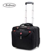 BeaSumore модная многофункциональная сумка на колесиках, 18 дюймов, сумка на колесиках для компьютера, мужская деловая дорожная сумка, Женский чемодан