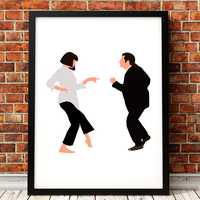 Pulp Fiction Poster Art Print Classic Movie Poster Abstract Minimalist Wall Art Canvas Painting Wall Picture Home Decor