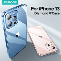 Joyroom-funda transparente para iPhone 13 Pro Max, funda trasera de PC + TPU a prueba de golpes, protección de lente completa, funda transparente para iPhone 13 Pro Max