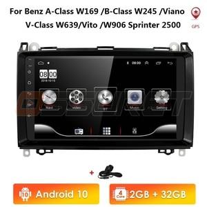Android 10 2 Din 9 ''автомобильное радио для Mercedes Benz B200 Sprinter W906 W639 AB Class W169 W245 Viano Vito радио GPS Navi поддержка 4G