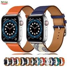 Lederband Für Apple uhr band 44mm 40mm 38mm 42mm iWatch Einzelnen tour armband uhr band für Applewatch serie 5 4 3 se 6