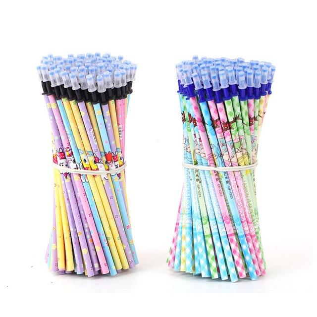 DELVTCH 0.5mm zmazywalny długopis napełniania 200 sztuk/zestaw długopis żelowy magiczny długopis niebieski/czarny tusz biuro szkoła piśmienne pisanie praktyczny prezent