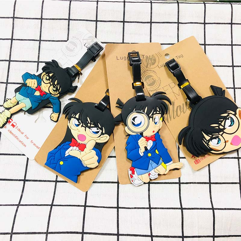 IVYYE Detective Conan Anime Travel Accessories Luggage Tag Suitcase ID  Portable Tags Holder Baggage Labels Gifts New
