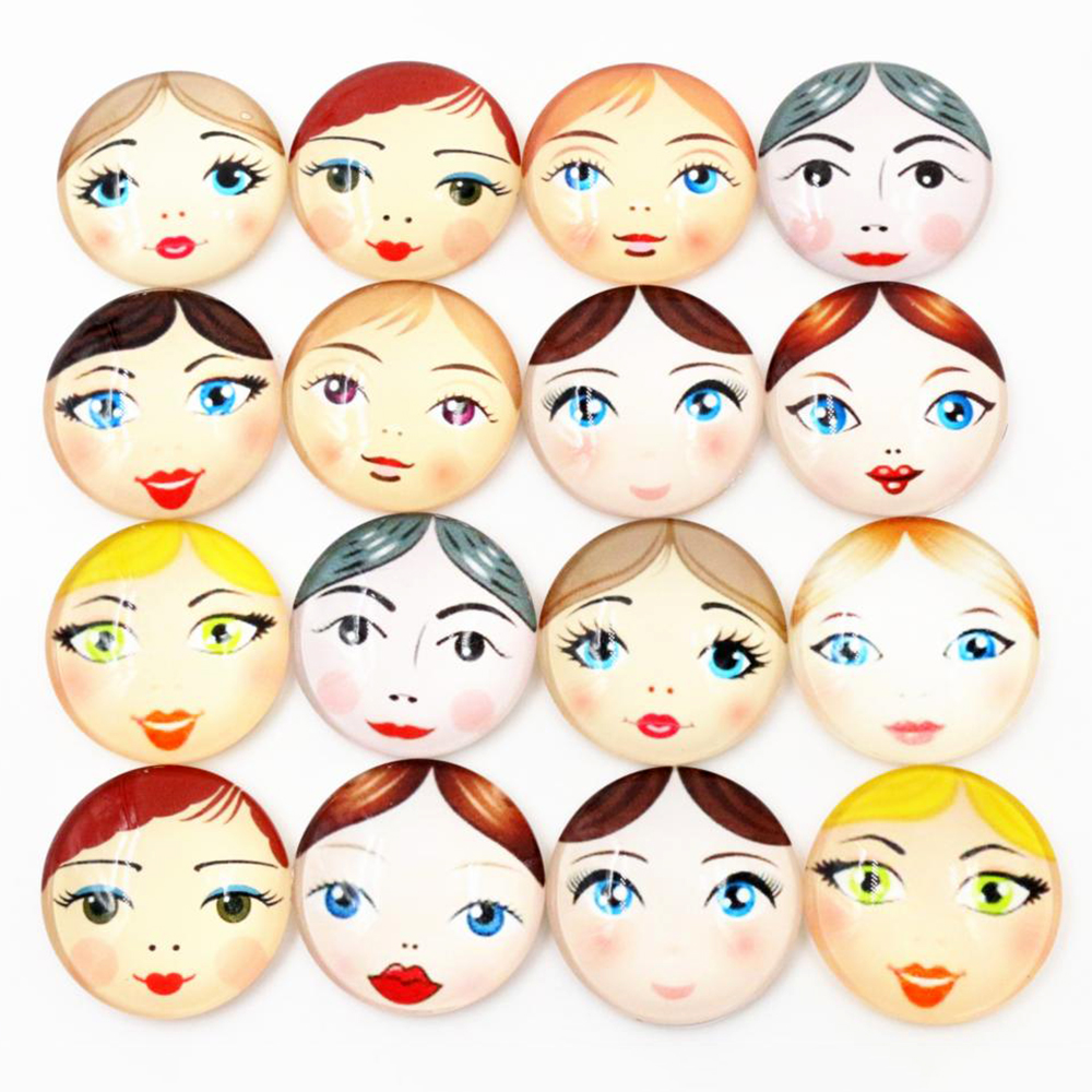 10mm 12mm 25mm And 20mm New Fashion Mixed Handmade Glass Cabochons Pattern Domed Jewelry Accessories Supplies