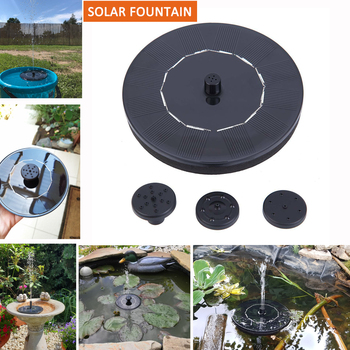 Honhill Mini Floating Solar Fountain Water Garden Pool Pond Outdoor Panel Power Decoration