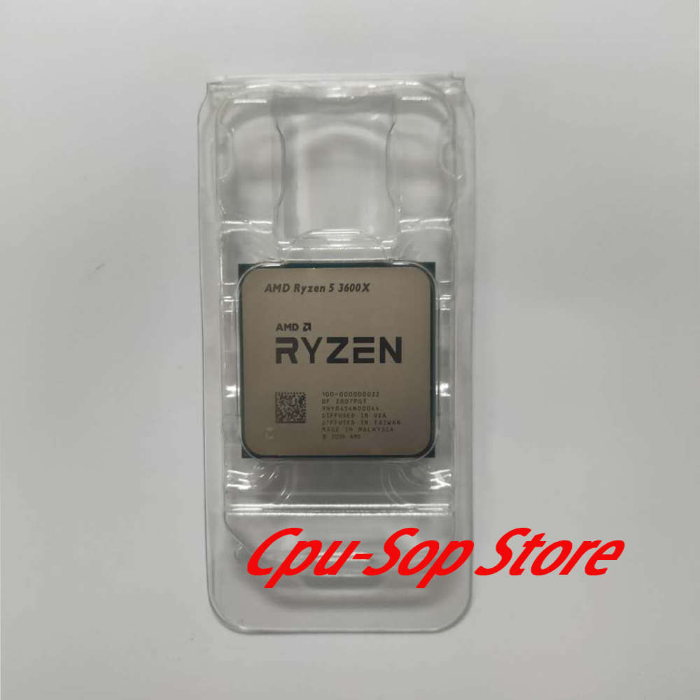 AMD Ryzen 5 3600X R5 3600X 3.8 GHz Six-Core Twelve-Thread CPU Processor 7NM 95W L3=32M 100-000000022 Socket AM4 NO Cooler