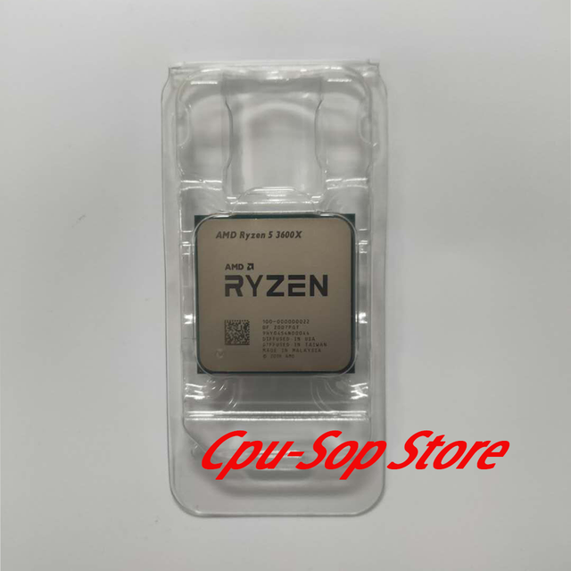 Amd Ryzen 5 3600X R5 3600X 3.8 Ghz Zes Core Twaalf Draad Cpu Processor 7NM 95W L3 = 32M 100 000000022 Socket AM4 Geen Koeler
