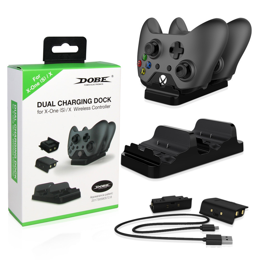 ZOMTOP New Dual Charging Base Controllers Portable Charger With Battery Packs For Xbox One Game Accessories #7 image