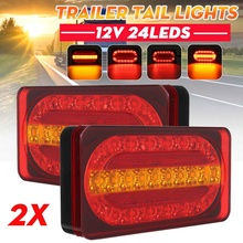 2pcs 12V Car Truck Tail Light Taillight Rear Brake Light Signal Lamp Indicator for Camper Trailer Lorry Bus Caravans