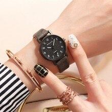 Fashion Women Leather Casual Dress Watch Luxury Analog Quart