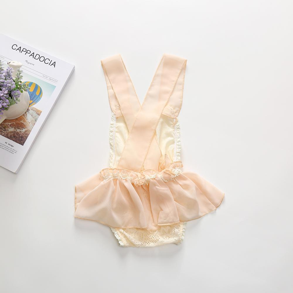 0 24M Newborn Baby Girl Onesie Summer Bodysuit Infant Princess Lace Romper Baby Christening Baptism Gown Party Wedding Dress in Bodysuits from Mother Kids