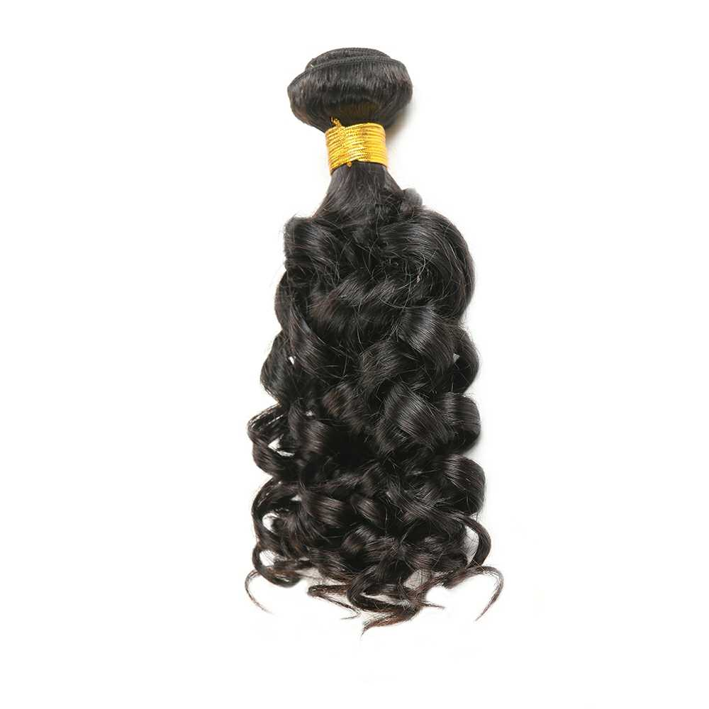 Bouncy Curly Human Hair Bundles SOKU 8-30 Inch Brazilian Hair Weave Bundles Natural Color Non-Remy Human Hair Extension 1PC