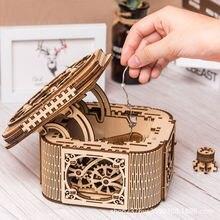 Деревянная шкатулка для ювелирных изделий креативная игрушка