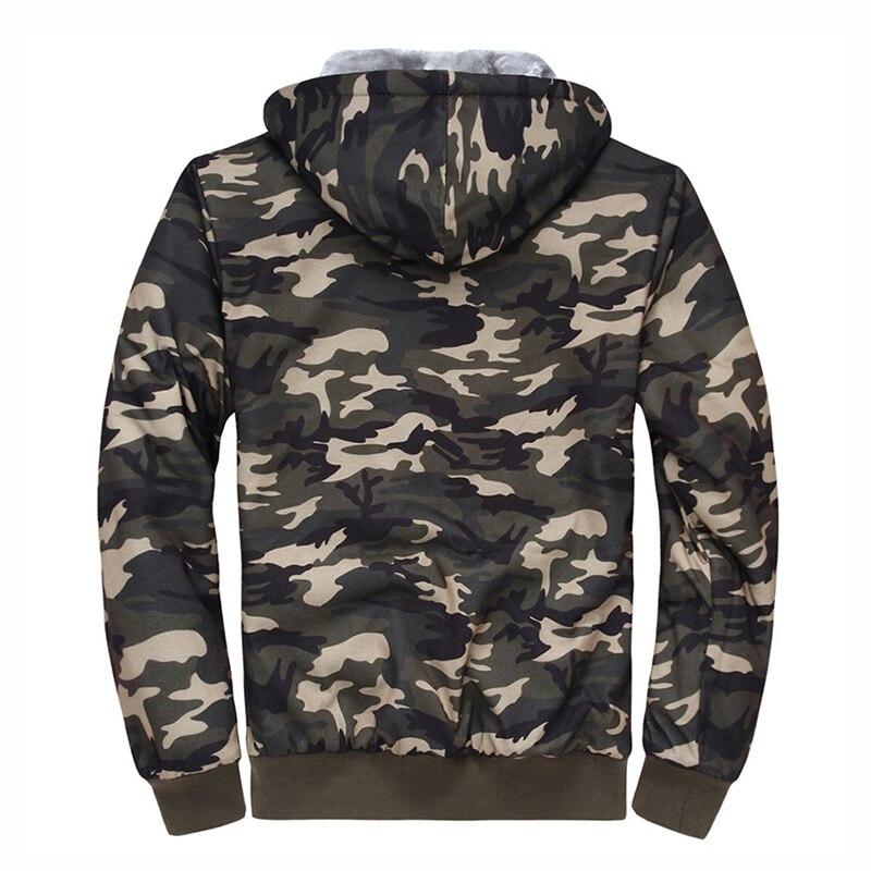 Осень зима 2018, мужская куртка с капюшоном, повседневные толстовки, камуфляжные мужские толстовки с капюшоном, флисовая одежда, камуфляжные ... - 2