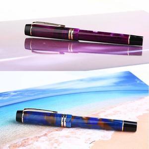 Image 5 - Moonman m600s presentes casa iridium fino nib fonte caneta material de estudo escritório tinta suave vácuo enchimento papelaria cor dupla