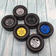 2Pcs Technic Part 18450 Tyre 81.6x44 R & 56908 Wheel 43.2x26 Technic Racing Small with 6 Pinholes Blocks Brick Toys For Logoes