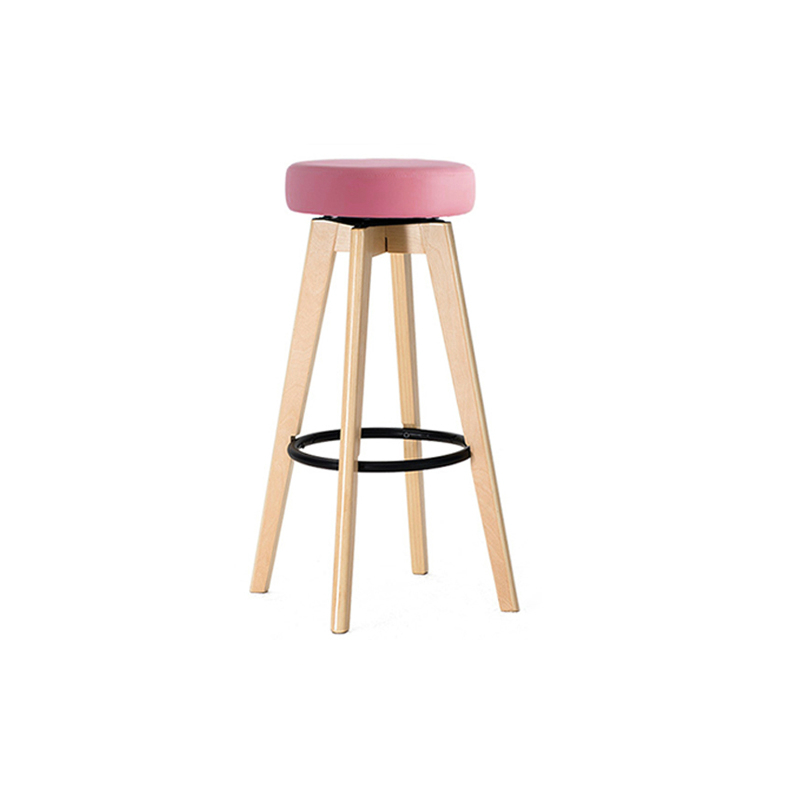 Bar Stool Bar High Stools Home Solid Wood Bar Stool Simple Rotation Creative European Style Chair