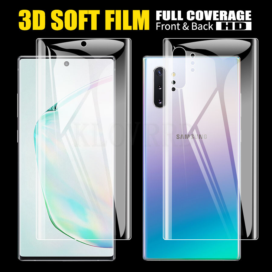 2Pcs Front + Back Hydrogel Film Soft Clear TPU Film Screen Protector For Samsung Galaxy A50 A30 S10 S9 S8 Plus Note 10+ 10 S10E