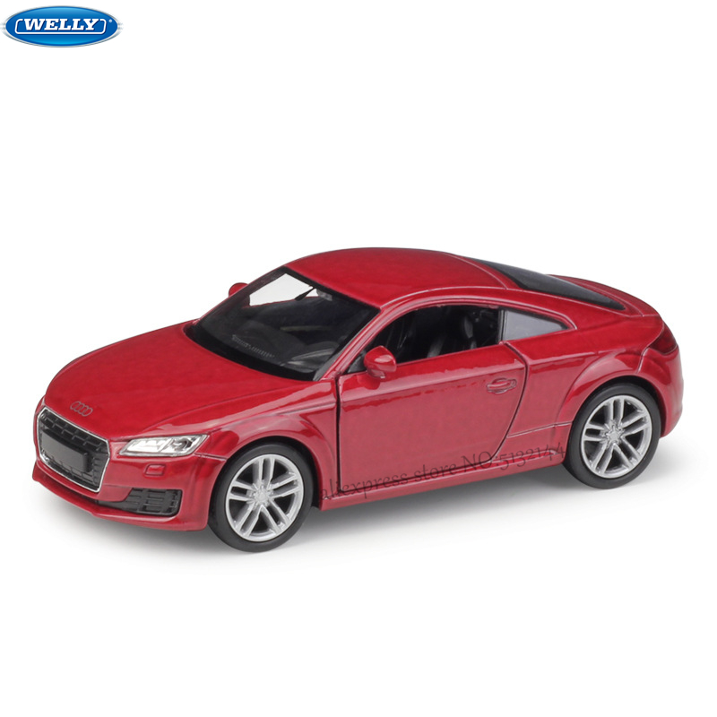WELLY 1:36 2014 Audi TT Simulation Alloy Car Model Machine Simulation Collection Toy Pull-back Vehicle