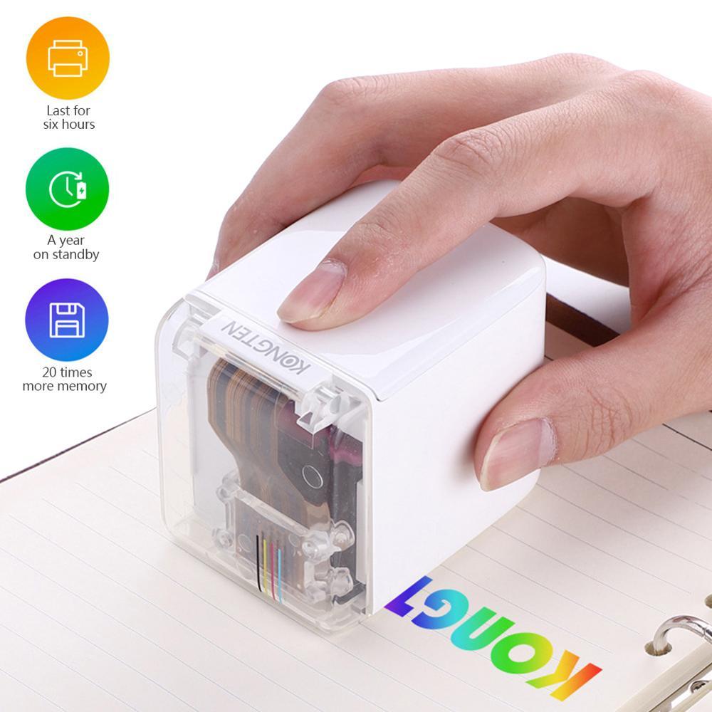 Портативный мини струйный принтер MBrush, цветной принтер штрих-кодов с чернильным картриджем, приложение для индивидуального текста