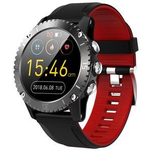 Image 1 - 2020 sport inteligentny zegarek mężczyźni muzyka Bluetooth informacje Push pomiar ciśnienia tętna wysokość połączeń przypomnienie Smartwatch