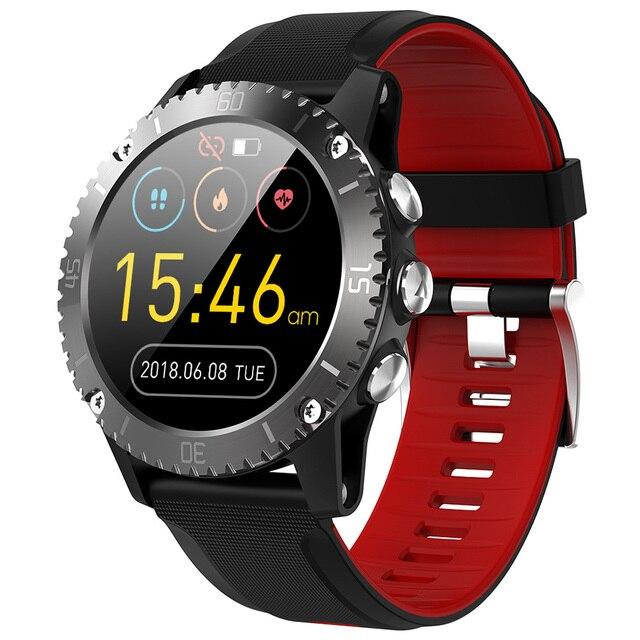 2020 sport inteligentny zegarek mężczyźni muzyka Bluetooth informacje Push pomiar ciśnienia tętna wysokość połączeń przypomnienie Smartwatch