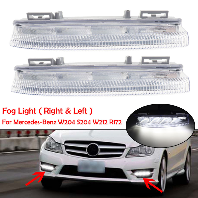 Car Front LED DRL Daytime Running Lamp Fog Light 12V For Mercedes-Benz W204 W212 C250 C280 C350 E350 A2049068900 A2049069000