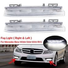 자동차 전면 LED DRL 주간 러닝 램프 안개등 12V 메르세데스 벤츠 W204 W212 C250 C280 C350 E350 A2049068900 A2049069000