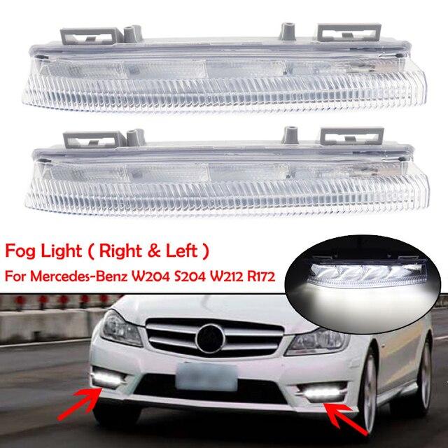 רכב קדמי LED DRL בשעות היום ריצת מנורת ערפל אור 12V עבור מרצדס בנץ W204 W212 C250 C280 C350 e350 A2049068900 A2049069000
