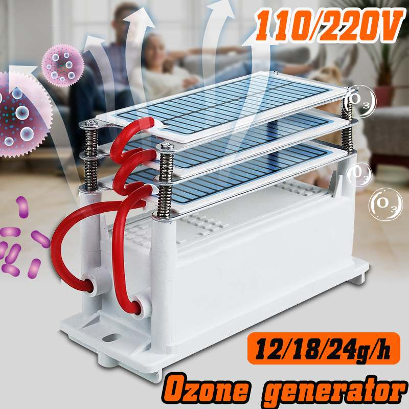 Ozone Generator 220V/110V 12g/18g/24g Home Car Air Clean Portable Ceramic Plate Air Purifier Air Sterilizer Car Ozone Ionizer