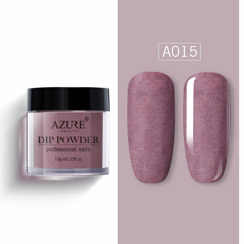 Azure Beauty Matte Effect Dipping Powder Newest Shiny Glitter  Nail Dip Powder Matte Top Coat Gradient Color Nail Glitter Powder