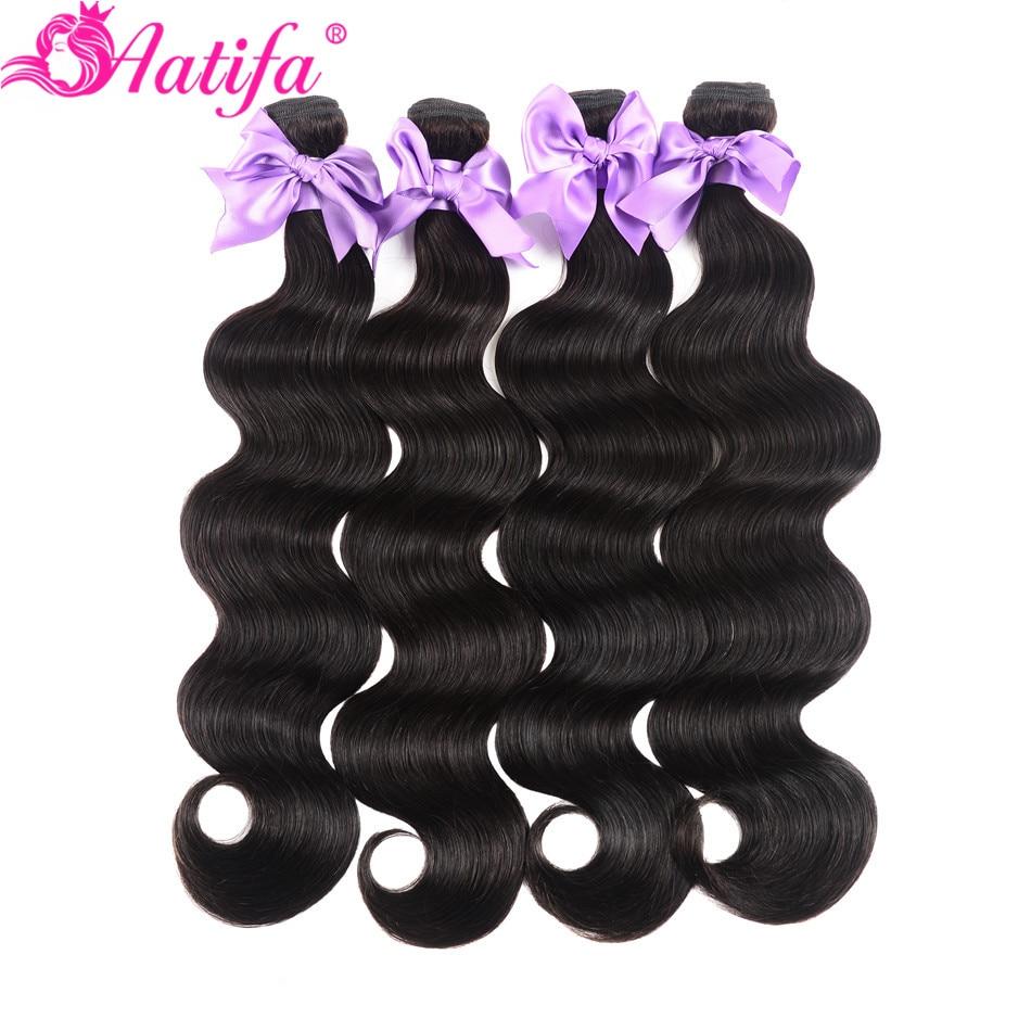 Brazilian Body Wave Bundles 100% Human Hair 1/3/4 PCS Hair Bundles Remy Hair Weave 8-28 Inch Hair Extension Natural Color Aatifa