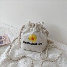 Simple new bag female 2020 wild personality canvas shoulder fashion girl crossbody