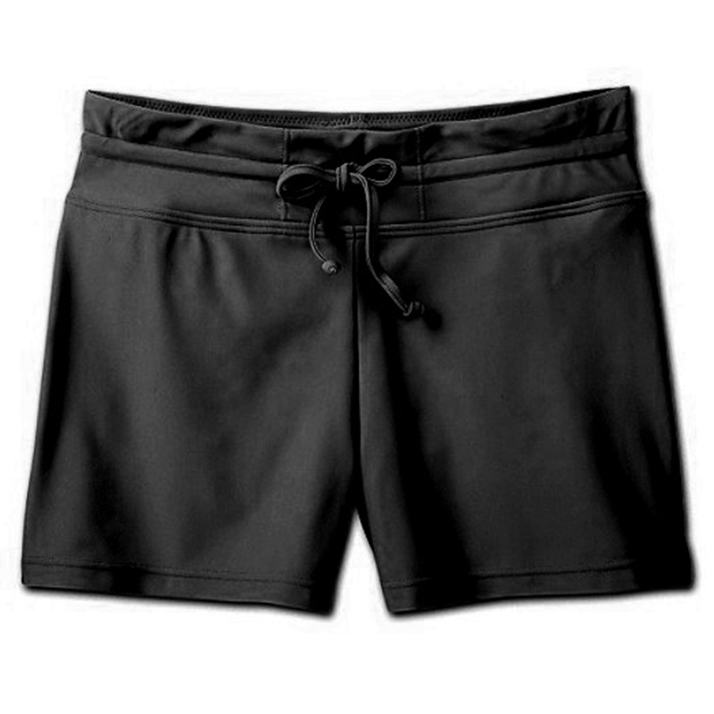 Newly Women Shorts Solid Color Casual Short Pant for Swimming Running Sports