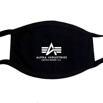 Alpha Industries Herren máscara dunkel grau manera máscara Mens Tee gris PM2.5