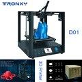 Tronxy D01 3d принтер промышленный линейный направляющий сердечник XY Titan экструдер бесшумный дизайн высокоточная печать высокое качество Новинк...