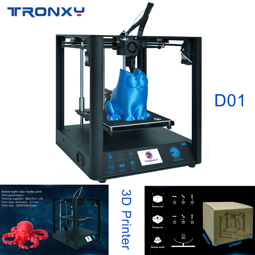 Tronxy D01 3D Printer Industrial linear guide rail Core XY Titan Extruder Silent design High-precision Printing High Quality New image