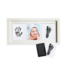 Детская Классическая рамка с отпечатками, деревянная фоторамка с отпечатками пальцев, набор для печати, Детская штемпельная подушка, сувенир для новорожденных