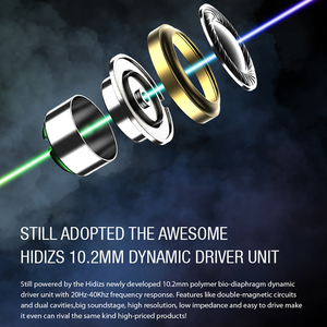 Image 3 - Hidizs MS1 Rainbow HiFi Audio Dynamic Diaphragm In Ear Monitor earphone IEM with Detachable Cable 2Pin 0.78mm Connector