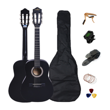 Classical Guitar Capo-Strings Picks Beginners-Performance-Bag Basswood 30inch Tuner CGT301