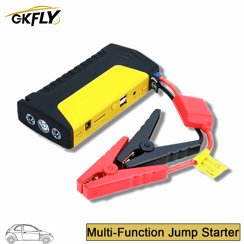 GKFLY Starting Device 12V 600A <font><b>Car</b></font> Jump Starter Power Bank Quick Starting <font><b>Car</b></font> <font><b>Charger</b></font> Booster Jumper <font><b>Cables</b></font> Auto Start <font><b>Battery</b></font> image